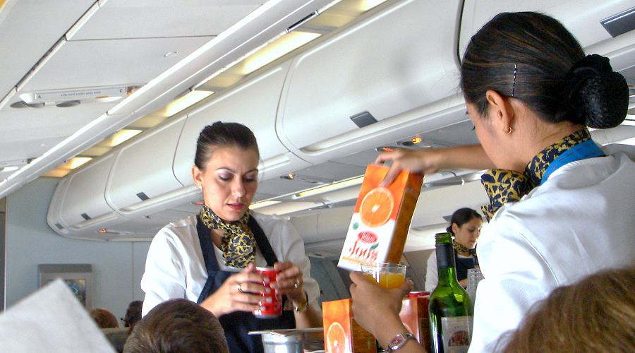 Service an Bord Gulf Air