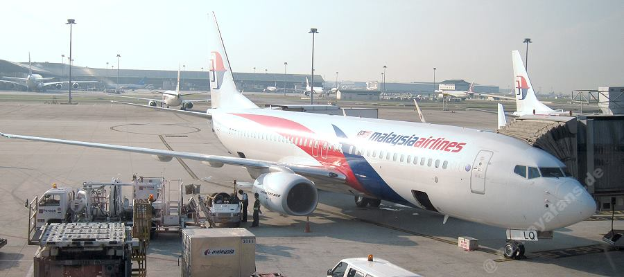 Malaysia Airlines Boeing 737-800, Flug MH784 nach Bangkok